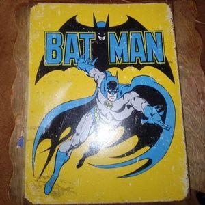 Vintage batman tin sign. Made to look worn.